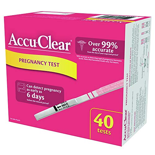 Accu-Clear Pregnancy Test Strips Over 99% Accurate HCG Tests, 40 Count