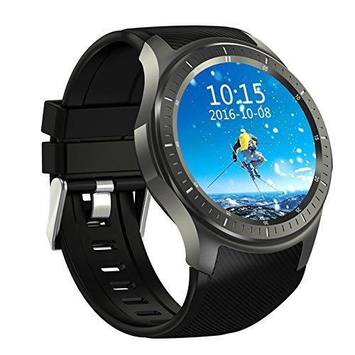 DOMINO DM368 3G Smartwatch - Android OS, Quad-Core CPU, 1 IMEI, Bluetooth 4.0, 3G, 8GB Storage, 400mAh Battery (Black)