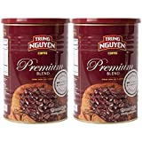 Trung Nguyen - Premium Blend - 2 Pack -425 grams | Vietnamese Coffee Whole Bean, Robusta and Arabica Premium Coffee Blend, Intense Flavor and Fragrance with Hint of Chocolate, Medium Roast with Low Acidity