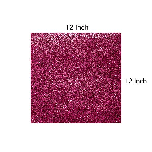 YZH Crafts 3D Glitter Cardstock Paper, 12 Inch by 12 Inch, 6 Sheets in One Bag, 250GSM, (Red W Type)