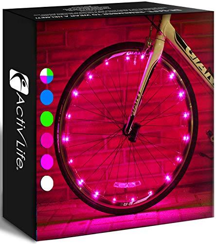 Activ Life Luces de Rueda de Bicicleta (1 neumático, Rosa) cumpleaños para niñas a Partir de 3 años, Adolescentes y Mujeres. Las Mejores Ideas navideñas únicas de 2020 para Ella, Esposa, mamá