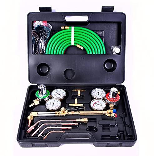 Favorite-trade Gas Welding Cutting Kit Oxy Acetylene Oxygen Torch Brazing Fits Victor W/Hose