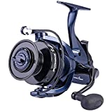 Sougayilang Baitrunner Fishing Reel,13+1BB,Spinning Reel for Catfish,Carp,Walleye,Striped Bass,with a Spare Spool-MG7000