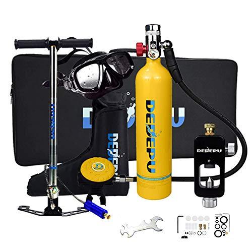 SELMAL Mini Buceo de Tanques de Buceo, Cilindro de oxígeno del Tanque de Buceo 1L con Capacidad de oxígeno de 15 a 20 Minutos, Tanque de oxígeno portátil para el Buceo bajo el Agua Que Respira el