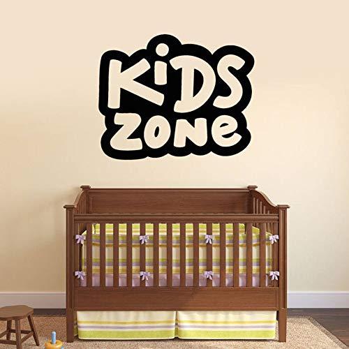 WERWN Etiqueta de la Pared del área de los niños Habitación de los niños Art Deco Vinilo Etiqueta de la Pared Signo Palabra Mural Papel Tapiz