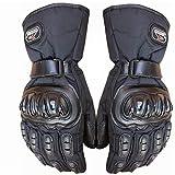 Dgtyui Paar Winter Motorradhandschuhe Wasserdicht Warm Motocross Racing Motos Motorradhandschuh Schwarz Blau Rot Polyester & Baumwolle - 1 X XL