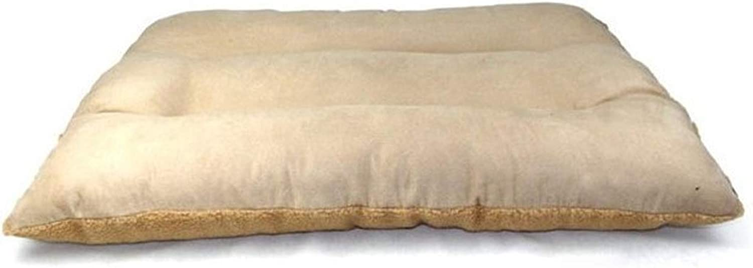 PLDDY pet bed Extra Large Dog Bed Pet Pillow Wool 120 X 80 CM for Large Dogs, Sleep With Cypress Wool and Suede, Detachable and Washable (color   BROWN, Size   L)