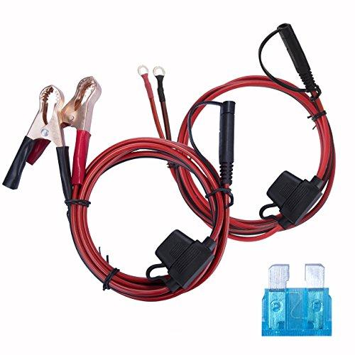 Magiin 2Pcs Adaptateur Allume-Cigare 12V avec 2 Pinces Crocodiles pour Batterie de Voiture Caravane Camion et Camping-Car 1.5M avec Un fusible