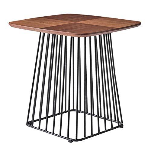 Bureau DD Bijzettafel, Nordic Small Coffee Table, smeedijzeren beugel/houten tafelblad. Sofa Metalen Bedplank - Werkbank