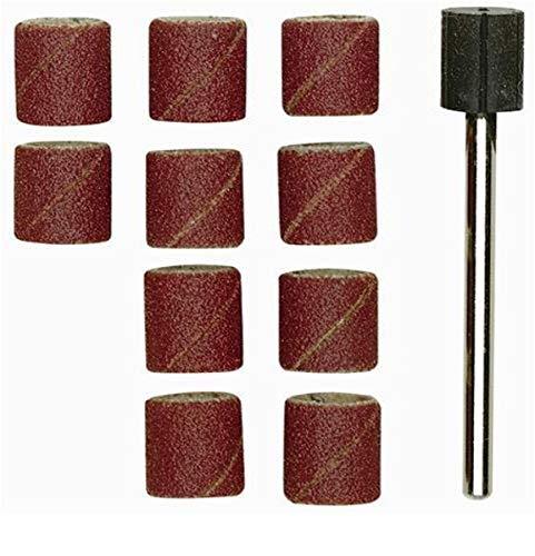Proxxon 28980 Schleifzylinder 10mm mit 10 Schleifb, rostrot/schwarz