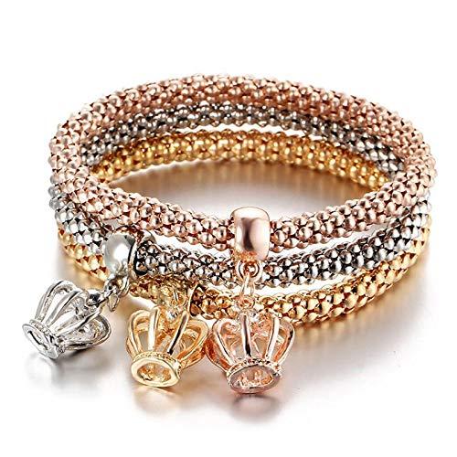 Jewellery Bracelets Bangle For Womens New 3 Pcs/Set Crystal Butterfly Bracelet & Bangle Multiple Shape Elastic Heart Bracelets For Women 81002