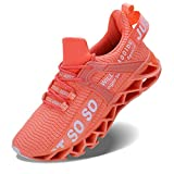 Vivay Damen Laufschuhe Walking Athletic fAr Frauen Casual Slip Fashion Sports Outdoor-Schuhe, Orange, 38 EU