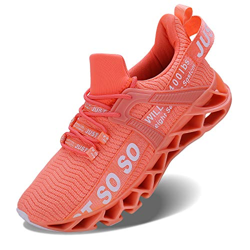 Vivay Damen Laufschuhe Walking Athletic fAr Frauen Casual Slip Fashion Sports Outdoor-Schuhe, Orange, 41 EU
