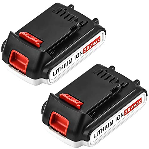 2 Pack 20Volt 3.0Ah MAX LBXR20 Repalce for Black and Decker 20V Lithium Battery LB20 LBX20 LST220 LBXR2020-OPE LBXR20B-2 LB2X4020 Cordless Tool Batteries