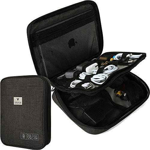 VASCO Travel Electronics Gadget & Cable Organizer Bag – Smart & Safe Storage (Black)