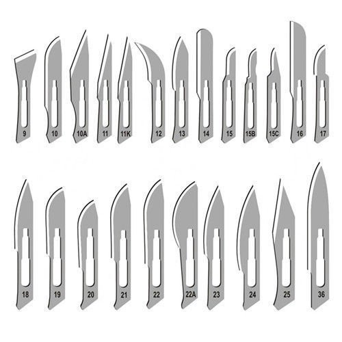 120 Surgical STERILE Scalpel Handle Blades #10#11#15#20# 21#22 +2 Free Scalpel Handle #3 and #4 Suitable for Dermaplaning, Crafts, Medical/Surgical Instruments/Equipment -CYNAMED Brand