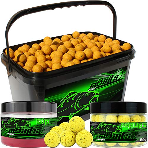 Angel-Berger Session Set Boilies Pop Ups Dip (Mais, 20mm)