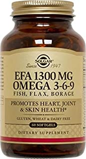 EFA Omega 3-6-9, 1300 mg, 120 S Gels by Solgar (Pack of 3)