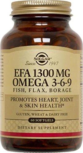EFA Omega 3-6-9, 1300 mg, 120 S Gels by Solgar (Pack of 3)