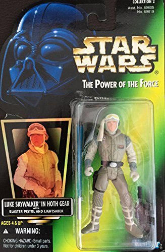 STAR WARS: Power of The Force Green Card Luke Skywalker en Hoth Gear Figura de acción
