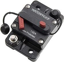 ANJOSHI 150 Amp Circuit Breaker 20A-300A with Manual Reset Waterproof Inline Fuse Inverter for Marine Trolling Motors Boat ATV Manual Power 12V-36VDC