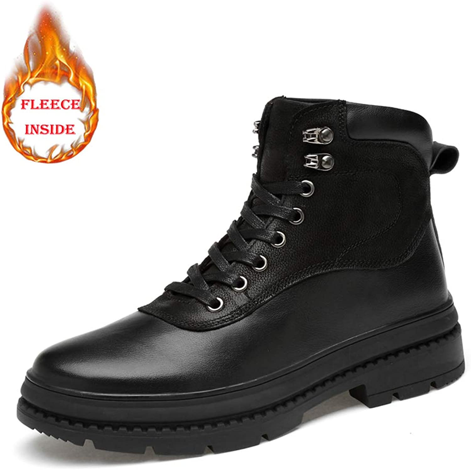 HYF Men's fashion ankle boots leisure classic comfort high top outdoor outsole boots Winter Boots