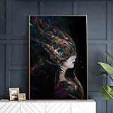 Cuadros decorativos Chica bonita con corselet de metal, carteles de juegos de bellas artes e impresiones, imagen de película, lienzo, pintura de pared, Cuadros de decoración del hogar 24x31pulgadas