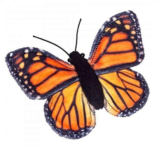 Teddy Hermann 93533 Schmetterling Monarchfalter 15 cm, Kuscheltier, Plüschtier