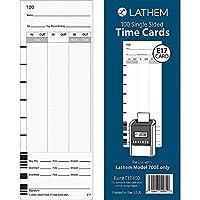 Lathem Model 700E 時計 片面タイムカード ホワイト