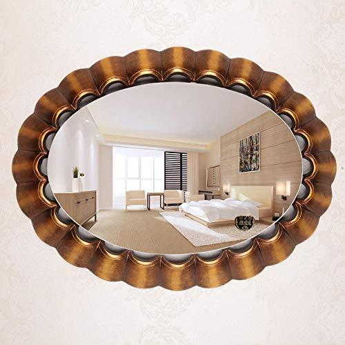 YBGW Wandspiegel Deko Rund Badezimmerspiegel Wandspiegel Schlafzimmer Kosmetikspiegel Badezimmerspiegel Goldener Halber Spiegel Dekorativer Spiegel Wandspiegel Badspiegel