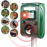 Winfend Solar Animal Repeller Ultrasonic Outdoor, Deer Repellent Raccoon...