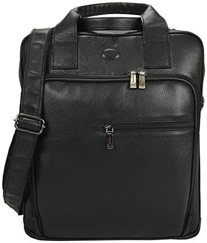 Bolsa Carteiro Masculina para Notebook em Couro 9567 - Preto Búfalo