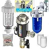 KIT SALVA CALDAIA FD333 Ferdom. 3+ In 1. Filtro Defangatore Magnetico Sottocaldaia + Filtro Anticalcare Per Caldaia/Dosatore Proporzionale Di Polifosfati+ Neutralizzatore Di Condensa Acida Di Caldaia
