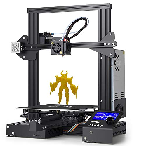 LOKE Impresora 3D Ender 3 3D escáner de Aluminio de Bricolaje con Reanudar impresión 220x220x250mm,Ender3