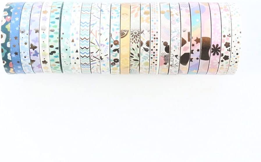 TTANH Domikee Cute Gold foil Paper New Orleans Mall DIY Decorative Max 45% OFF Japanese washi