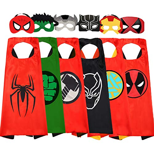 Superhero Cape and Masks for Kids Superhero Costume for Boys Superhero Dress up Toys 4-10 Year Old Boy Gifts