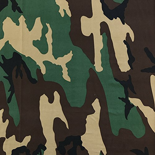 "DTY Fabric Camouflage (6-1) Stretch Brushed Printed Jersey Knit Apparel 58/60"" Wide Sold BTY"