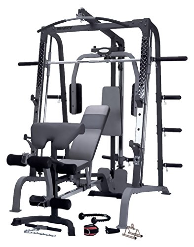Marcy SM4000 Deluxe Smith Machine - Multigym - Gimnasio en casa - Incluye banco de ejercicio