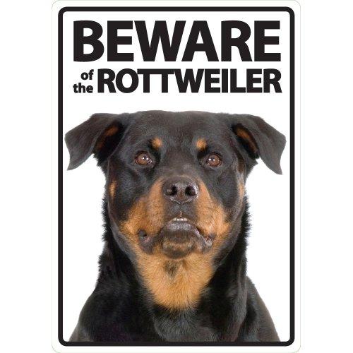 Magnet & Steel Panneau A5 Beware of The Rottweiler