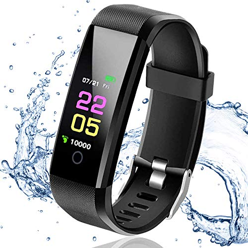 Rastreadores de Actividad física, rastreadores de Actividad Reloj Inteligente de Ejercicios para la Salud, Reloj Deportivo Impermeable IP67 con Monitor de frecuencia cardíaca con iOS y Android