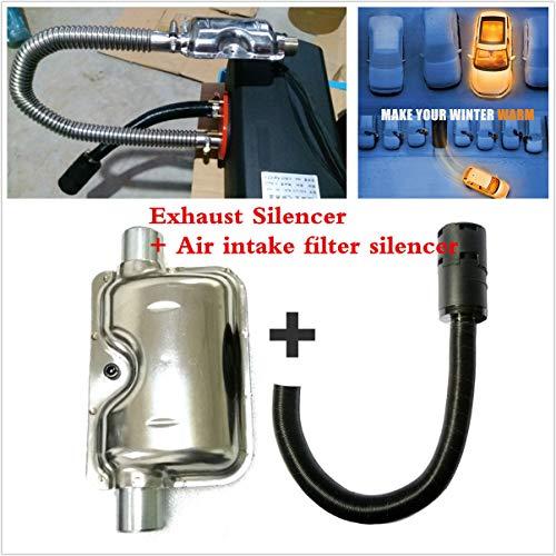 FidgetKute Air Intake Silencer/Muffler Exhaust Silencer Kit for Webasto,Eberspacher& Heater