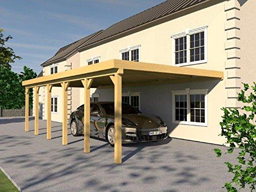 Anlehncarport Carport EIFEL VIII 400x900cm Bausatz, Anlehn Carport