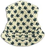 NA Écharpe Jaune Feuilles De Cannabis Motif Cou Guêtre Bandeau Magique Balaclava...