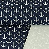 French Terry Stoff Anker marine Maritim Modestoffe