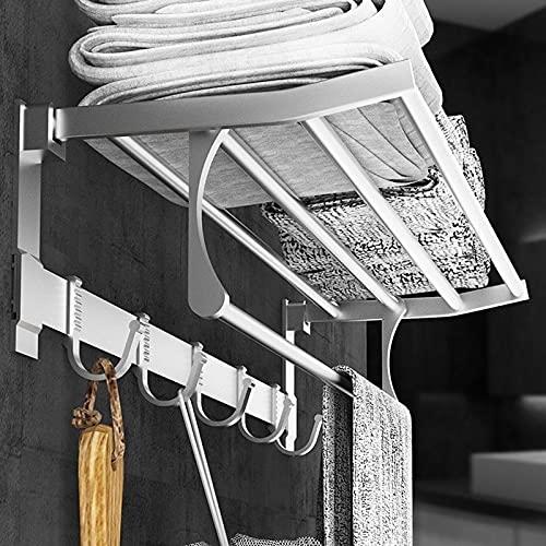 ADFBL Estante de Almacenamiento de Estante Plegable 50cm / 60cm para toalleros de baño