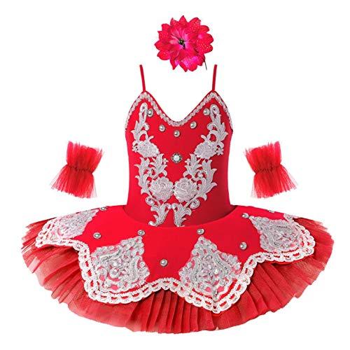 dPois Vestido de Danza Lentejuelas Niña Ropa de Ballet Mail