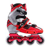 Old street Crazy Carbon Fiber Professional Slalom Skates Adult Roller Free Skating Shoes Sliding Patines Similar,Red,42