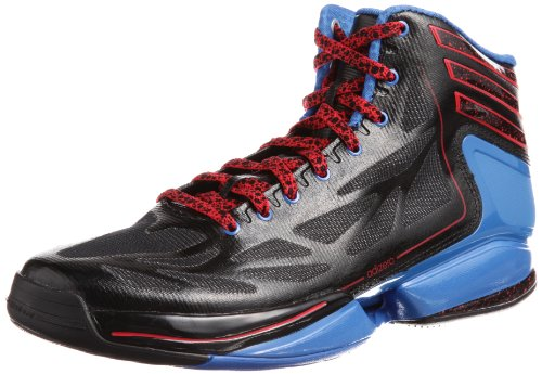 adidas Adizero Crazy Light 2 G59695, Herren Basketballschuhe, Schwarz (Black 1 / Radiant Red F10 / Prime Blue S12), EU 46 2/3 (UK 11.5)