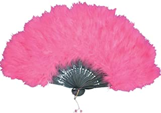 Pink Feather Fan One Size