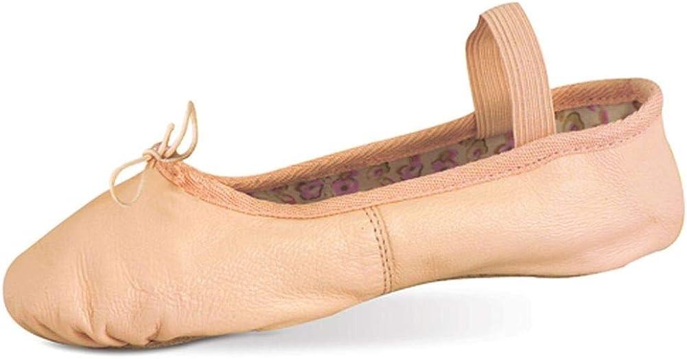 Danshuz Toddler Girls Pink Soft Leather Rose Ballet Shoes Size